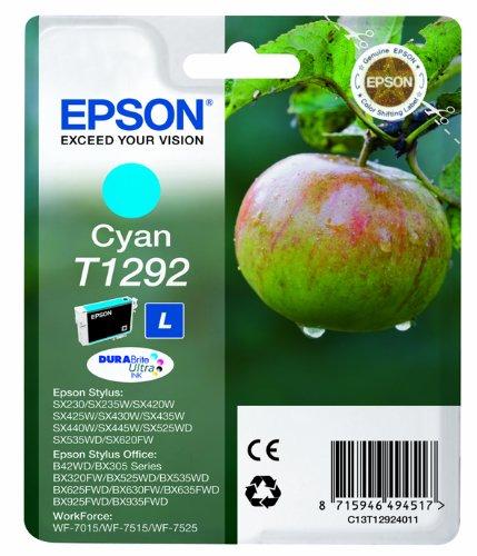 Epson Original T1292 Tinte, Apfel, wisch- und wasserfeste (Singlepack) cyan