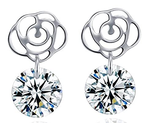 SaySure - S925 Silver Drop Earring New Fine Jewelry