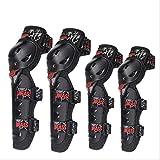 Matilda530 La rodilla de la motocicleta coderas Pads protecciones engranaje fijado for Multi Deportes Skateboarding en línea del patinaje sobre ruedas de bicicletas BMX Biking de ciclo Vespa-4pcs rodi