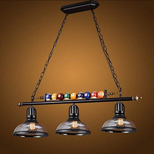 SED Decke Kronleuchter-Snooker Loft Glas Kronleuchter Kreative Persönlichkeit DREI Restaurant Art Bar Industrie Kronleuchter A +