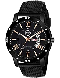 MontVitton Day and Date Functioning Black Quartz Watch for Boys - (LS2805)