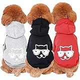 aisuper Hund Pet Cat Puppy Kleidung Hoodie für kleine mittlere Große Big Hunde Cute Cartoon Jacke Coat Jumper Outfit für Frühjahr Herbst Winter Going Out (3Farben, Größe S-2X L)