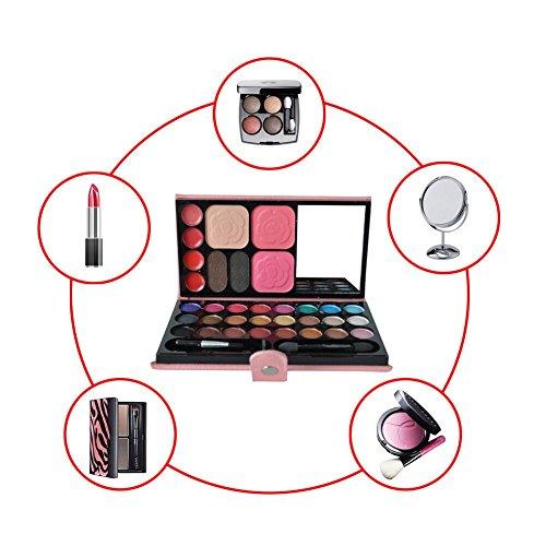 Eyeshadow Palette,sinhoo 33 Colours Eye Shadows Lipstick Blushed Powder Waterproof Make Up Contour Kit Professional Portable Set With Mirror