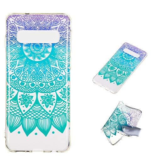 CoverKingz Handyhülle für Samsung Galaxy S10 Schutzhülle Silikon Cover, Motiv Case Mandala Bunt