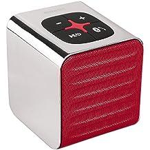 'NINETEC TabNT01–Sound Cube Bluetooth Speaker altavoz Sound Box portátil en color rojo