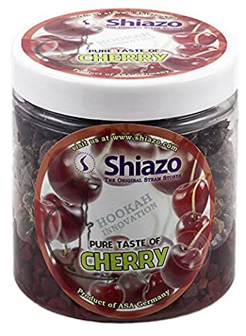 Shiazo Pierres à chicha 250 g Shiazo Pierres à chicha sans nicotine substitut au tabac Saveur cerise 250 g