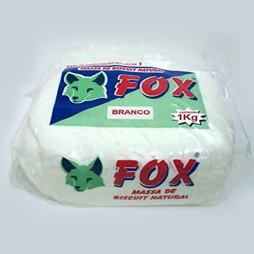 figuras kawaii porcelana fria Pasta para modelar FOX color Blanco 1 Kilo