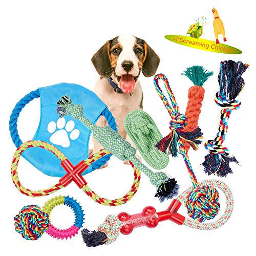 VIEWLON Hundespielzeug Welpe, Tau Hundespielzeug, Seil Spielzeug