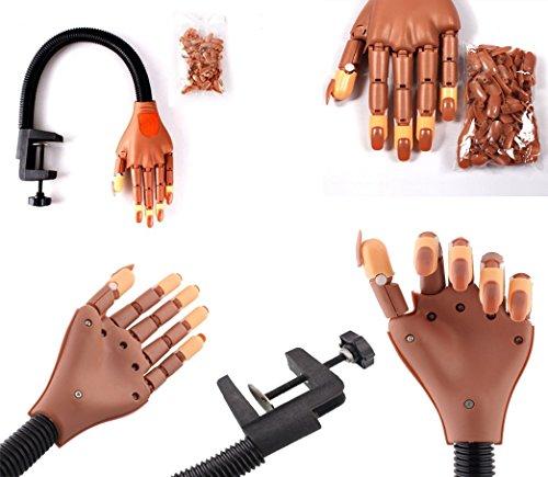 Takestop® mano finta con supporto morsetto tavolo braccio snodabile pratica ricostruzione unghie tips nail art e gel estetica estetista