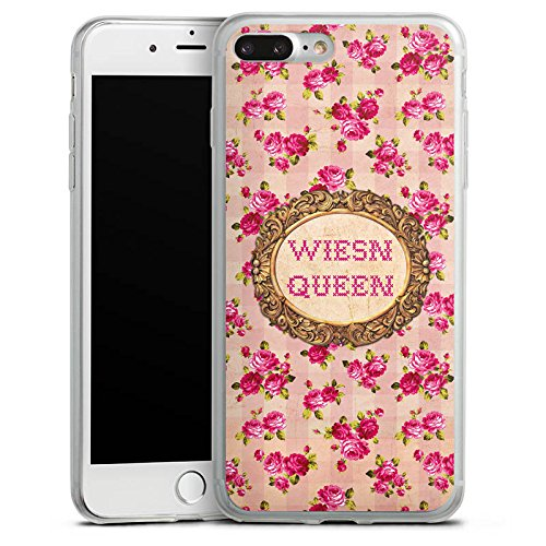 Apple iPhone 8 Plus Slim Case Silikon Hülle Schutzhülle Oktoberfest Wiesn Queen Silikon Slim Case transparent