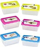 Kigima Frischhaltedosen Gefrierdosen 9er Set 1l mit beschreibbarem Deckel und