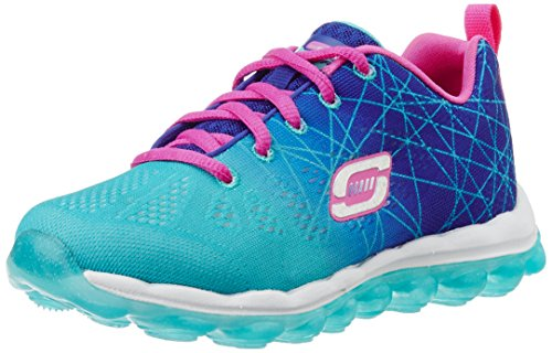 Skechers Girls' Skech Air Laser Lite Low-Top Sneakers Blue Size: 9.5 Child UK