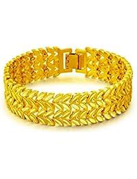 20b46150acde OPK Pulsera 18K Amarillo Oro Hombre de Cadena Amplio Versión 17mm de Ancho