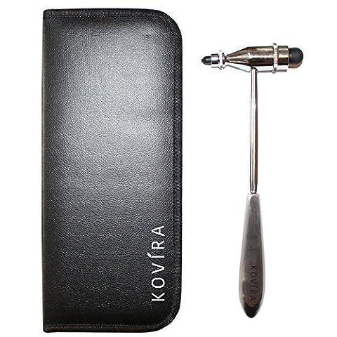 Tromner Neurological Reflex Hammer with Case by Kovira - Percussion Hammer for Neurologic Diagnosis and Testing - Neurologic Reflexes - Neurology Therapy Instrument