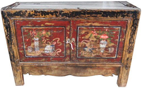 Etnicart - Antike mongolische Anrichte-124x86x42-Hohe Qualitat