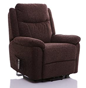 GFA The Oxford - Riser Recliner/Lift and Tilt Chair in choice of fabric colours (Chocolate)