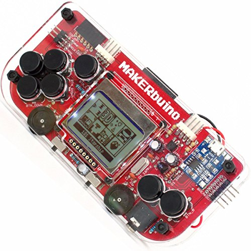 MAKERbuino standard kit - soldering kit - Arduino - DIY retro game console for kids - learn electronics and programming - micro USB