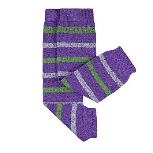 Hoppediz Stk-lil-gra Baby-Stulpen aus Kashmir/Merinowolle, violett