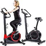 Vélo d'appartement Hop-Sport EXIGE HS-060H ergomètre avec support pour smartphone 32 niveaux de résistance Mesure d'impulsion Masse d'inertie 11 kg charge max. 120 kg Guidon & selle réglable