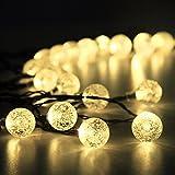 Innoo Tech Guirnalda de Luces Solar Guirnalda Luminosa de Exterior 19.7ft 30 LED 4.5M Blanco Cálido Bolas de Cristal Para Decoración de Navidad, Jardín, Patio, Fiesta, Dormitorio, Reunión Familiar