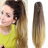 Neverland Beauty liso peluca peluca trenza cola de caballo Cola de caballo fibra sintética 50cm #4