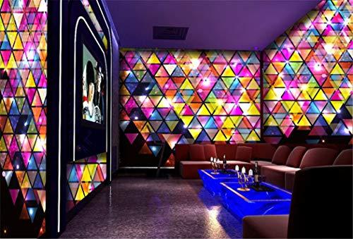 Tapete Hintergrund-Tapetenindividuelle Fototapeten 3D Disco Ktv Karaoke Bar Unterhaltung Wandbild Dekoration, 200 * 140 Cm