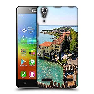 Snoogg Lake Side Houses Designer Protective Phone Back Case Cover For Lenovo A6010