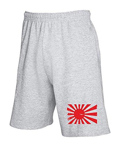 Cotton Island - Pantalone Tuta Corto TSTEM0048 japan vintage logo, Taglia M