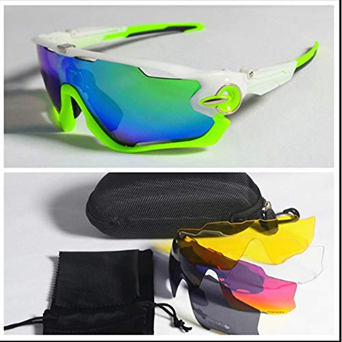 FUXIAOCHEN Polarisierte Radfahren Sonnenbrillen Mountainbike-Schutzbrillen Photochromic Cycling Eyewear Fahrrad-Sonnenbrillen Radfahren Brillen, D