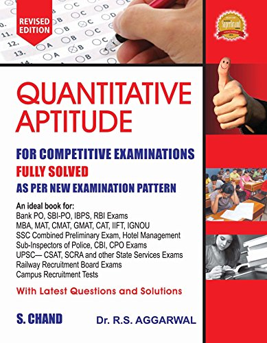 Quantitative Aptitude for Competitive Examinations by S Chand Publishing