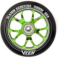 Slamm V-Ten II 110mm Stunt Scooter Rolle Complete (110mm - Grün)