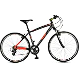 UT H2 26T 700 Cross 21 Speed Junior Cycle  18-inches (Black & Red)