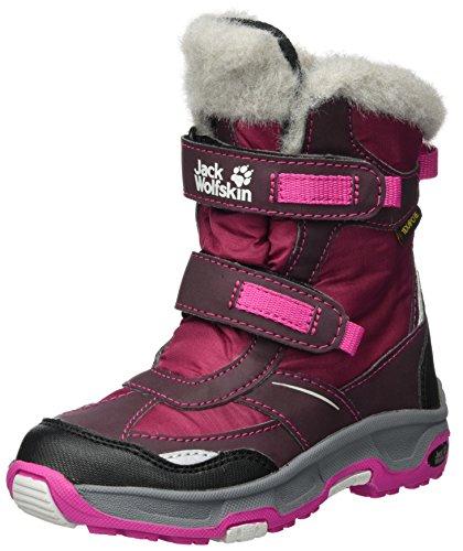 Jack Wolfskin Girls Snow Flake Texapore, Winterstiefel für Mädchen mit wärmendem Wollfutter, wasserdichte & atmungsaktive Outdoor Stiefel, trittsichere Schuhe für Mädchen
