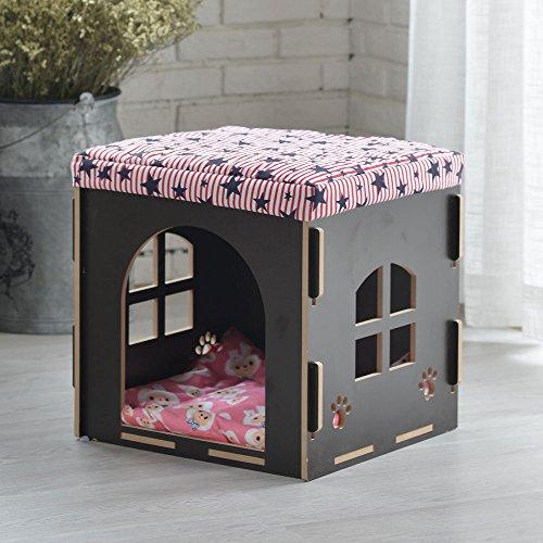 Schuh-speicher-bank (DIY Haustier-Schuhe für Schuh-Bank-Schemel waschbar Vierjahreszeiten-Haustier-Haus-hölzerner Speicher-Zwinger-Katzen-Bett-Katzen-Katze-Landhaus ( Design : 7 ))