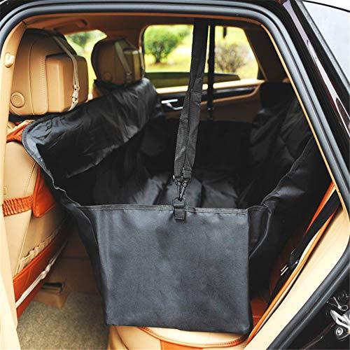 Lovely rabbit Haustier Auto Rücksitz Seat Faltbare Auto Sitzbezug Weiche Haustier Reise Car Protector Tragetasche Für Autos (Color : Black)