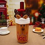 Ocamo Red Wine Bottle Cover Bag Christmas Dinner Table Decoration Home Party Decor Santa Claus/Snowman/Elk