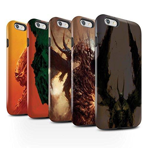 Offiziell Chris Cold Hülle / Glanz Harten Stoßfest Case für Apple iPhone 6 / Vampirfledermaus Muster / Wilden Kreaturen Kollektion Pack 6pcs