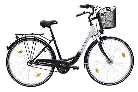 Citybike 28' Zoll 3-Gang Nabenschaltung STVZO Nabendynamo Rücktritt RH 46 cm schwarz weiß