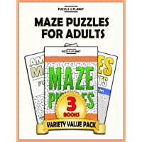 Maze Puzzles For Adults: 140 Moderate To Hard Mazes For Adults: Volume 2 - Optical Value Pack