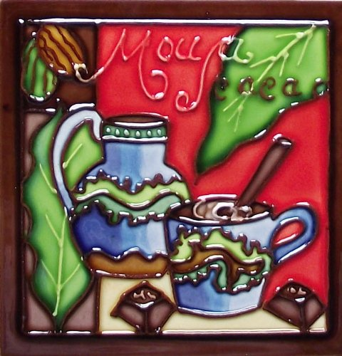 Continental Art Center M-106 Keramik-Magnet, 7,6 x 7,6 cm, Coffee 4 (Keramik-backsplash)