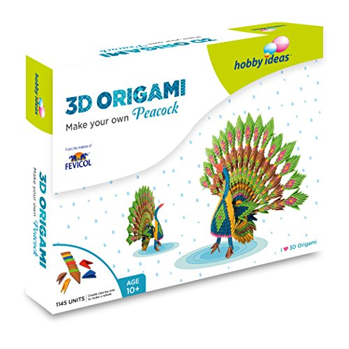 Pidilite DIY 3D Origami Peacock Craft Kit