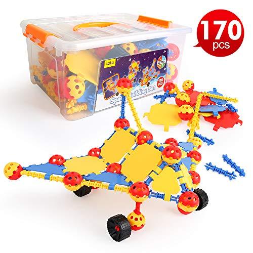 LBLA Spielzeug bausteine,Lernspielzeug,Spielzeug 4 Jahre Junge mädchen,Geschenk für Kinder,170 PCS