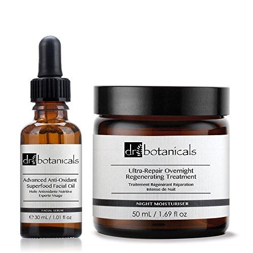 Dr Botanicals Huile Antioxidante Nutritive Experte Visage/Traitement Régénérant Réparation Intense de Nuit