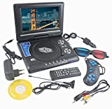 "11.5"" 3D DVD Player Portable EVD with USB Playback TFT Swivel Flip Screen Game + MP3 + Card Reader Support + 3D Support"