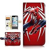 Spiderman A21719 Étui Portefeuille avec Film Protecteur d'écran pour iPhone 6/iPhone 6S
