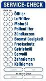 Aufkleber 'Service' 46 x 82 mm, Checkliste Serviceliste Serviceaufkleber KFZ 96 Stück