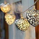 Heart Shape 10 LED Battery Powered Fairy Lights Outdoor String Lights