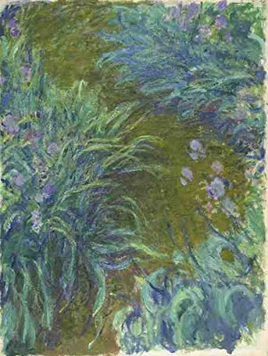 Claude Oscar Monet Irises A4 10x8 Photo Print Poster - Monet 8x10
