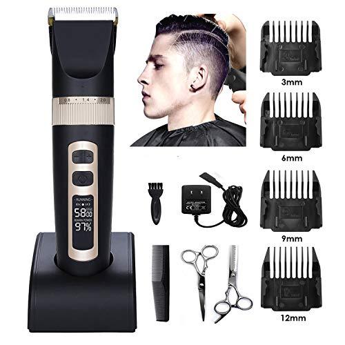 Tondeuse cheveux hommesTondeuses à cheveux professionnelles pour hommes Coupe-poils de précision...