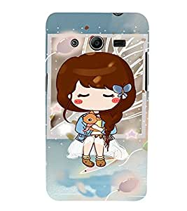 EPICCASE Cute girl with puppy Mobile Back Case Cover For Samsung Galaxy Core 2 (Designer Case)